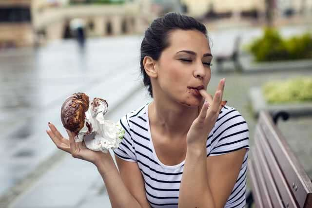Don't consume foods with excess sugar including junk food