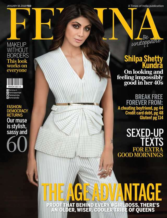 Shilpa Shetty on femina cover