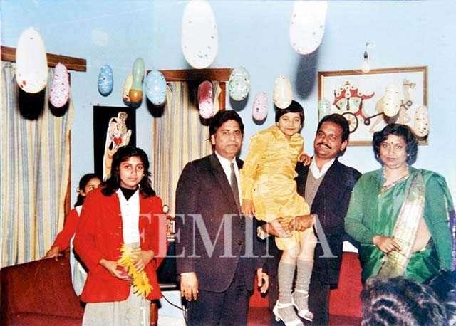Ruchika Girhotra,and her family