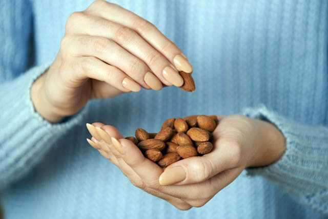woman with almond