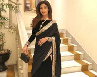 Shilpa Shetty Kundra is slaying the sari game