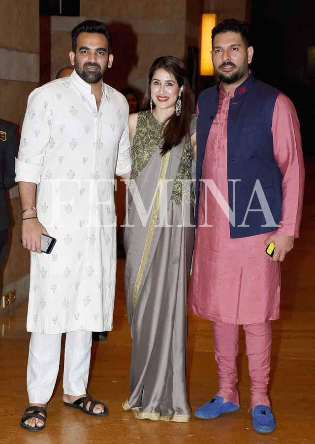 zaheer sagarika and yuvraj