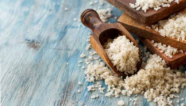 salt with rock salt