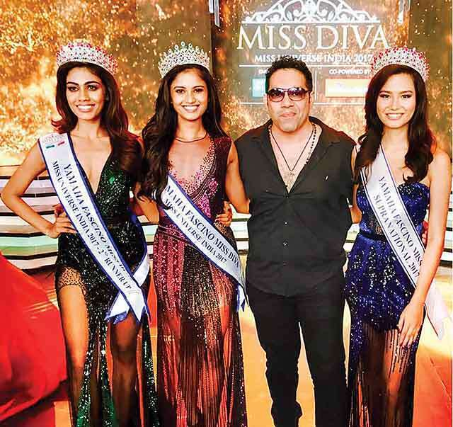 Savio John Pereira celebrity hair stylist with miss diva 2017