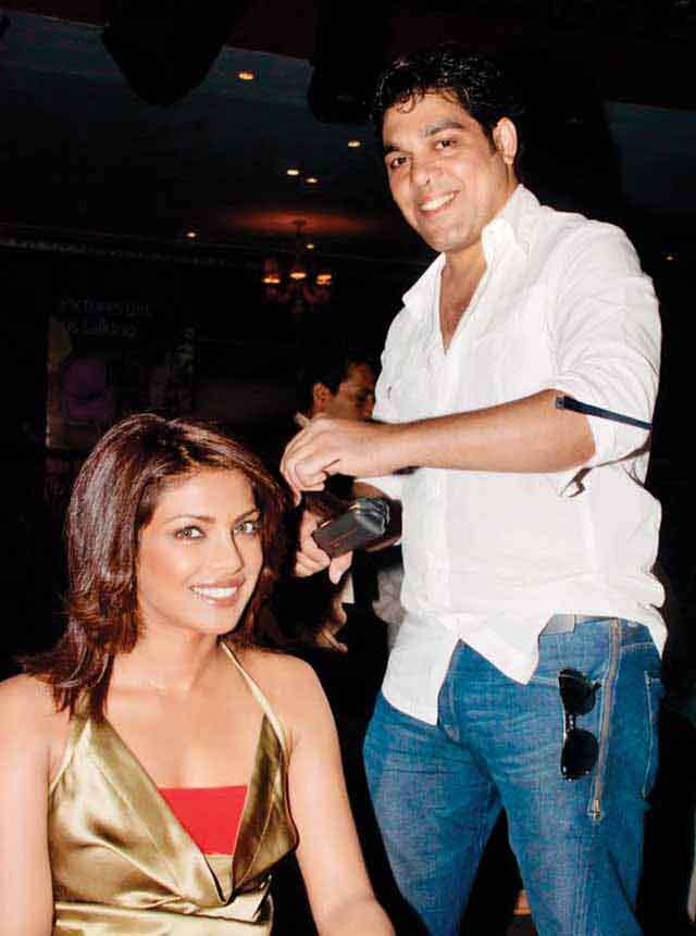 Savio John Pereira celebrity hair stylist with priyanka chopra