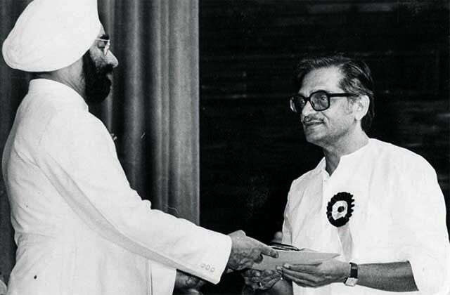 Felicitated by then president Giani Zail Singh