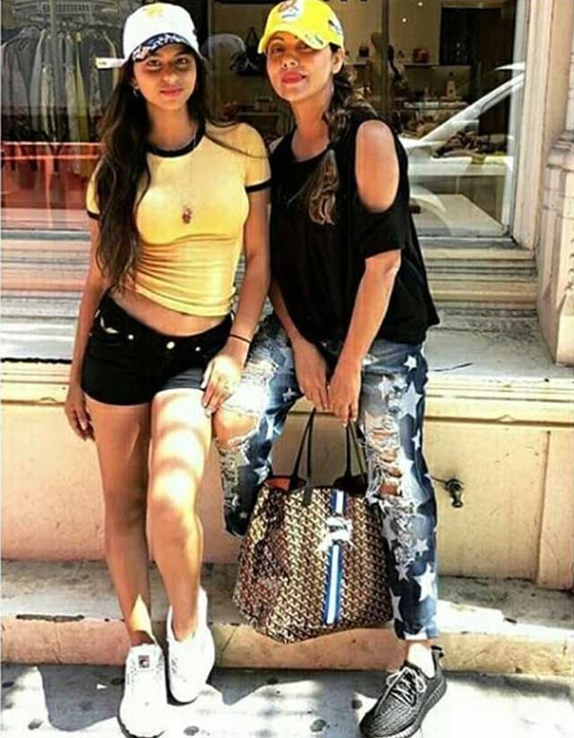 Gauri and Suhana Khan