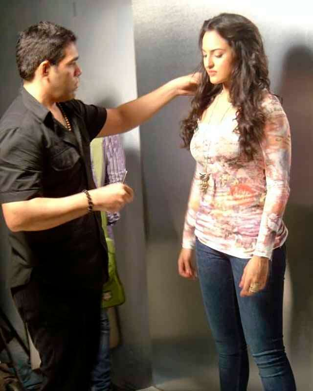 Savio John Pereira celebrity hair stylist with sonakshi sihna