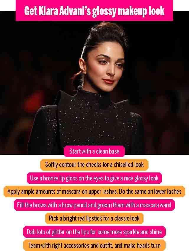 Get Kiara Advani's glossy beauty makeup look