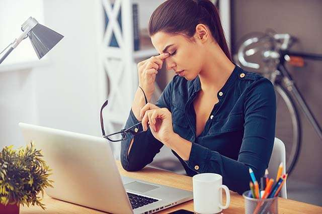 Work pressure increase stress and anxiety