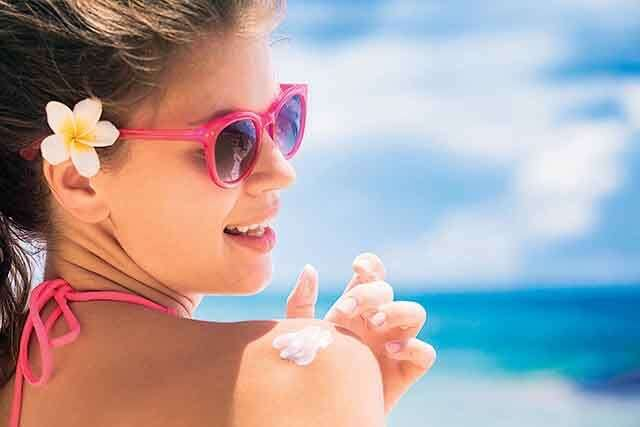 sunscreen facial foam