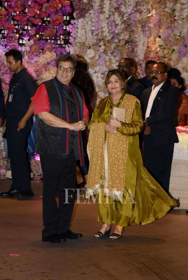 Subhash Ghai with wife