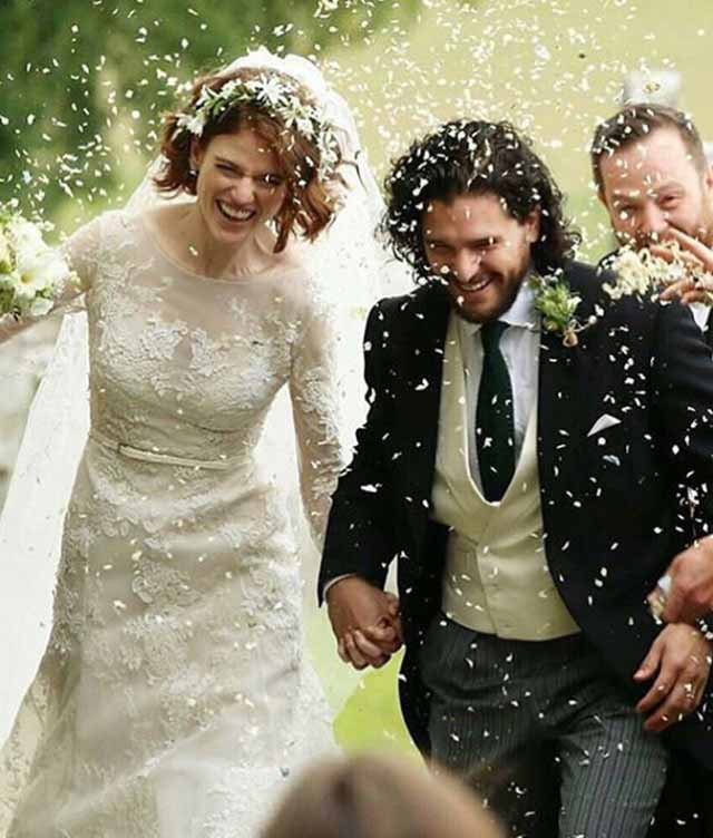 Kit Harrington and Rose Leslie's wedding