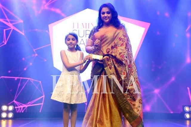 Baby Nainika awards her superstar mother Meena