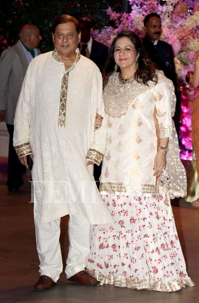 David Dhawan with wife