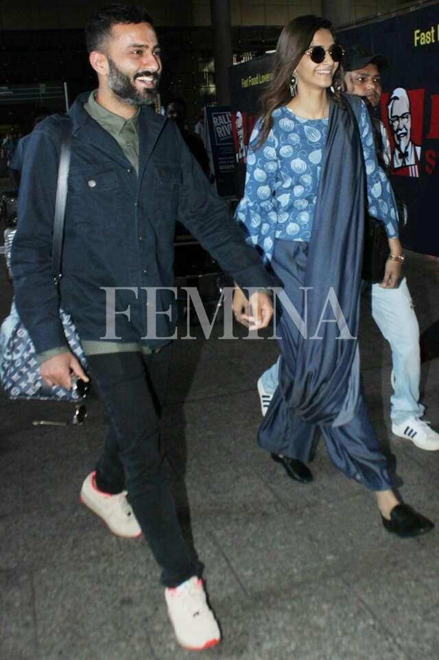 <a href='https://www.femina.in/celebs/sonam-kapoor'> Sonam Kapoor Ahuja</a> and Anand Ahuja