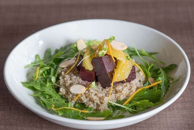 Quinoa, beetroot & orange salad