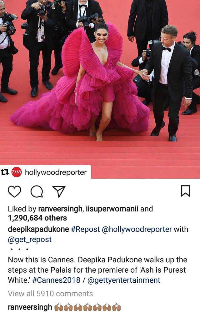 Deepika and Ranveer's cute banter on Instagram