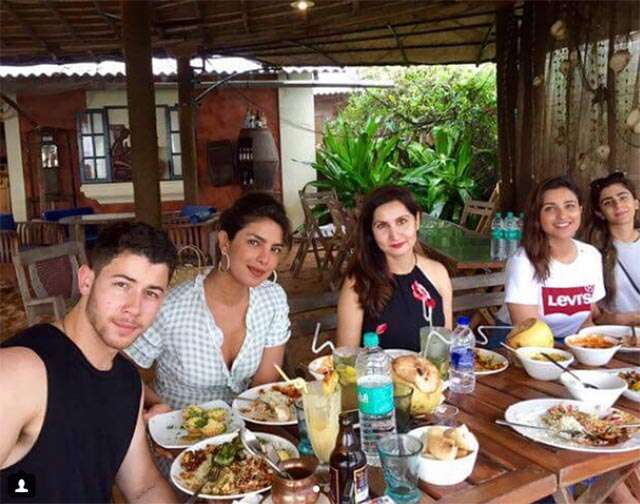Pictures from Priyanka and Nick's vacation