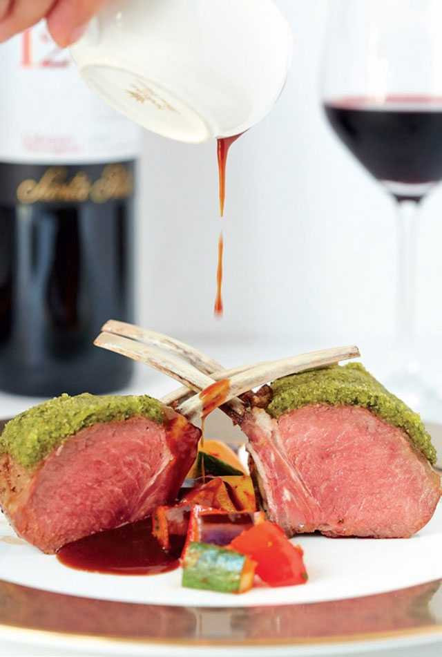 Rack of lamb with Provençal herb crust