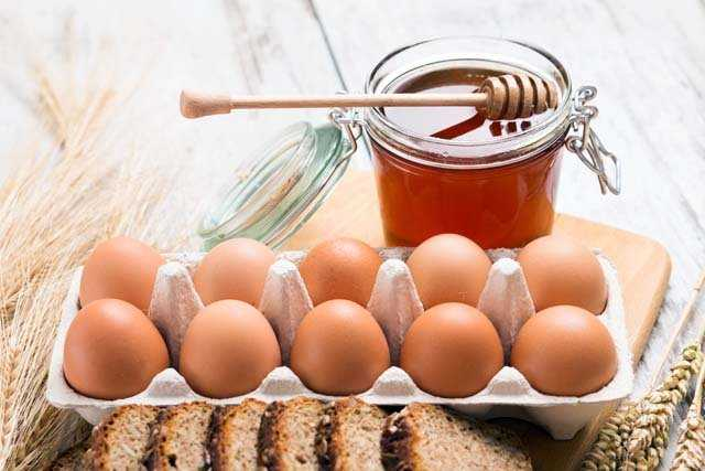 Eggs and honey mask