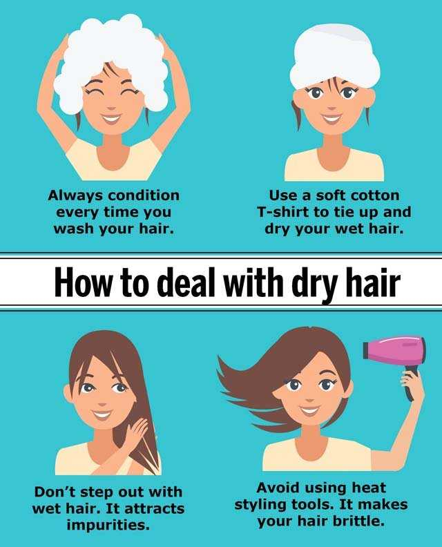 infographic on home remedies for dry hair