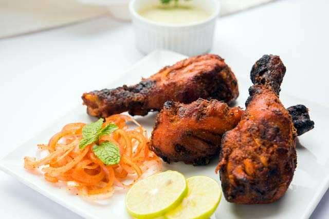 Non-vegetarian food and tandoori food