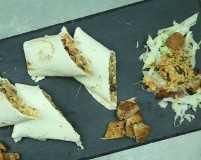 Recipe: chicken, brown rice & kidney bean burritos