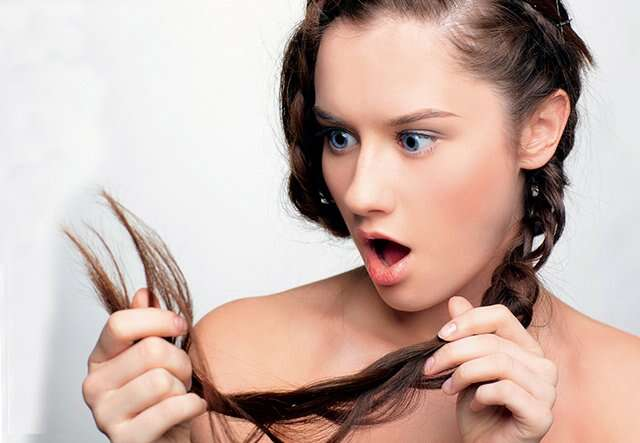Split ends can be due to stress on your tresses