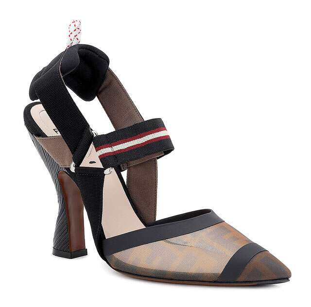 Leather slingback, price on request, Fendi