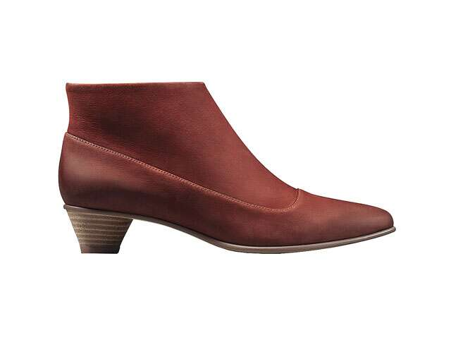 Nubuck leather booties, Rs8,999, Clarks