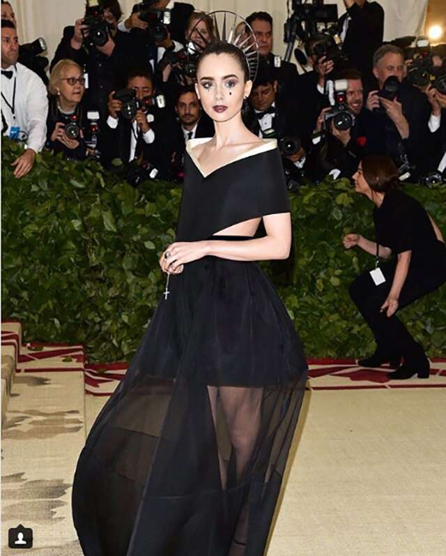 Lily Collins in Givenchy