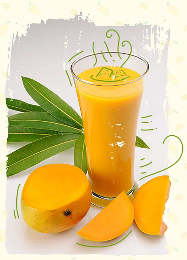 Mixed berry & mango smoothie