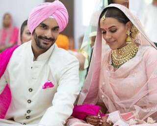 Neha Dhupia and Angad Bedi married! Candid photos of the couple