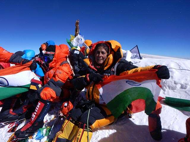 oldest Indian woman to climb Mt Everest