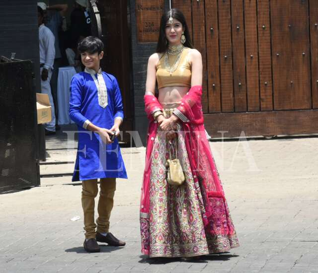 Shanaya Kapoor with her brother