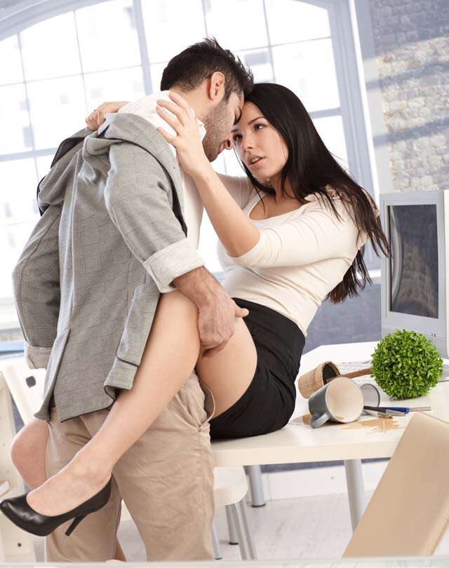 couple in office