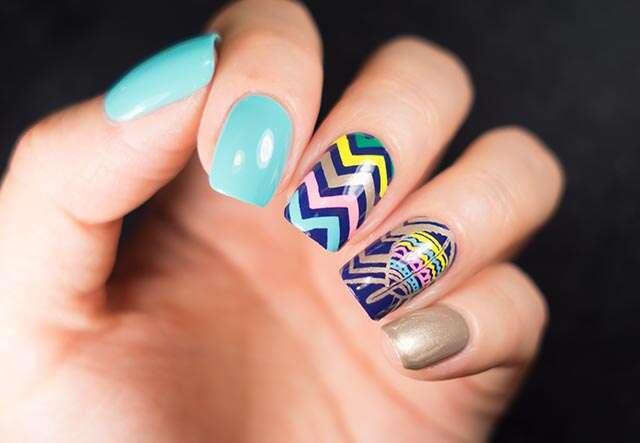 woman nails