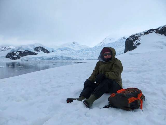 woman in Antarctic