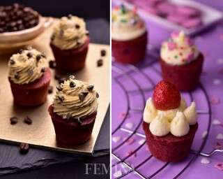 Delicious ways to frost red velvet cupcakes