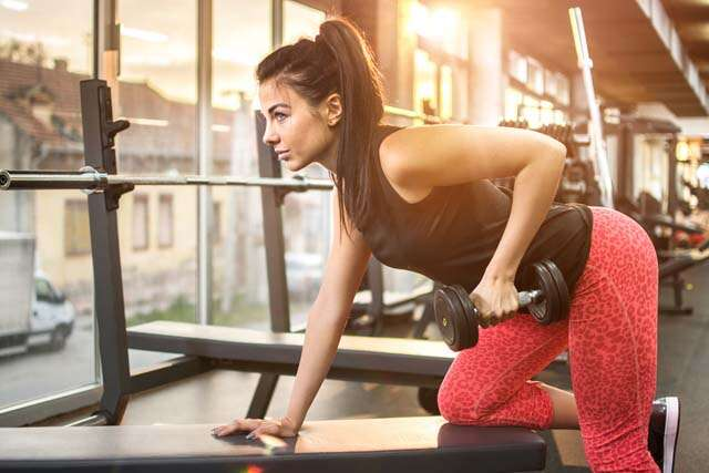 Women get bulky with weight training