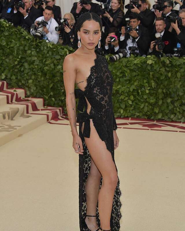Zoë Kravitz in Saint Laurent by Anthony Vaccarello
