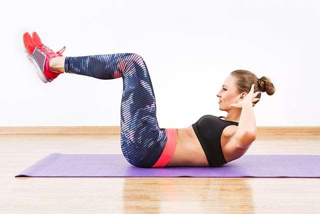 Exercises to Reduce Belly Fat with Reverse Crunches