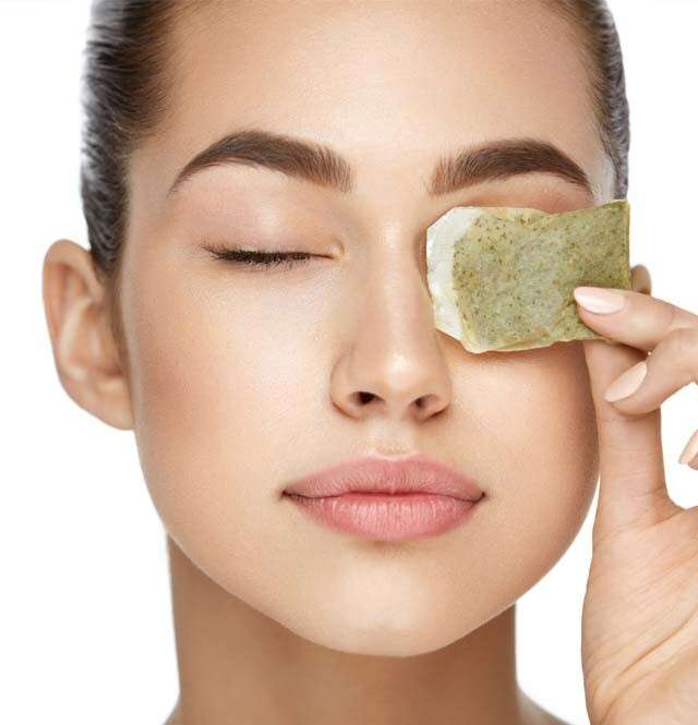 Benefits of Green Tea for Skin also useful for Undereye