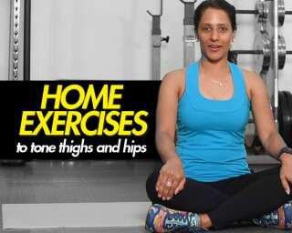 Home exercises to tone thighs and hips