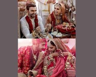Be inspired by #Deepveer for your bridal wear colours