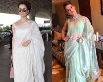 Kangana Ranaut's sari swag