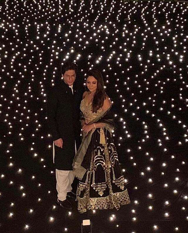 Shahrukh and Gauri Khan's starry Diwali night
