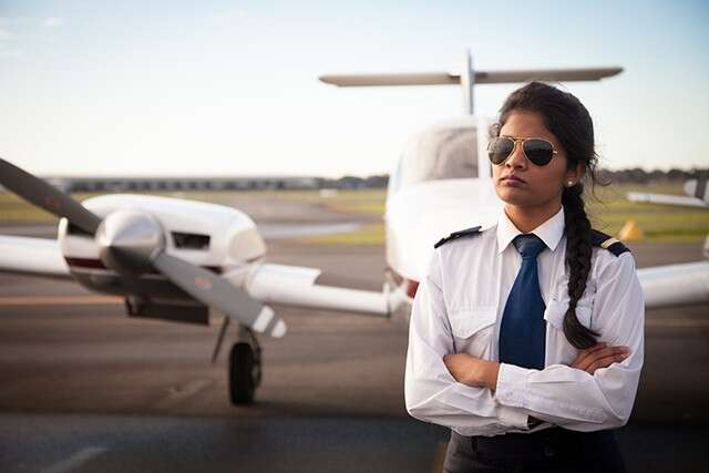 women pilots' double of world average