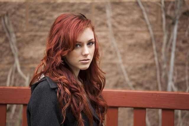 Auburn Colour Ombre Hair